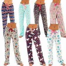 Ladies Soft Snuggle Fleece Lounge Pants Warm Pyjama Bottoms Womens Unicorn 8-18