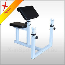 PREACHER ARM CURL BENCH - BICEPS WEIGHT LIFTING - HOME GYM **STADIUM SPORTS**