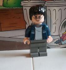 Harry Potter lego mini figure HARRY BLUE JACKET GREY LEGS 10217 4841 30110