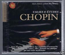 CHOPIN CD NEW VALSES / 12 ETUDES/ GEZA ANDA/ JOHN BROWNING
