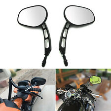Long Stem Rearview Black Motorcycle Mirrors Custom For MOTORCYCLE CRUISER USA