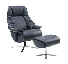 Leather Sofa Recliner Chair Adjustable Luxury Armchair Lounge Dark Blue