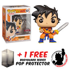 FUNKO POP DRAGON BALL Z YOUNG GOHAN WITH SWORD EXCLUSIVE + FREE POP PROTECTOR