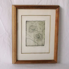 "Vintage ""Weeds 1"" by Susan C. Ross '68-Limited Print 9/10 Matted/Framed-7 X 9"""
