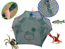 Foldable Crab Net Trap Cast Dip Cage Fishing Bait Fish Minnow Crawfish Shrimp GW