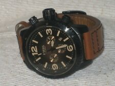 Men's Fossil CH-2666 Chronograph W/Leather Wristwatch