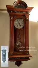 Antique Lenzkirch German Wall Clock Antik Deutsche Wanduhr Ancienne Horloge