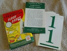 Vintage 1961 Arithmetic Combination Flash Cards By Kenworthy #1215 - Gently Used