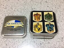 Harry Potter QUIDDITCH WORLD CUP ENAMEL PIN BADGES, House Crests, Set of 4, 2003