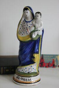 Vierge à l'Enfant Faïence  Nevers ?  Quimper ? Collection Religion