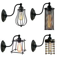 Modern Retro Vintage Industrial Wall Mounted Lights Black Sconce Lamps Fixture