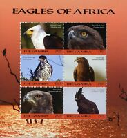 Gambia 2018 MNH Eagles of Africa Fish Snake Eagle 6v M/S Birds of Prey Stamps