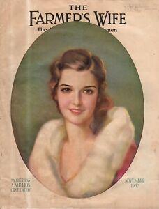 1932 Farmer's Wife November - Rose O'Neill; No money in Hogs; Upset traditions