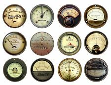 Vintage Steampunk Industrial Meters Dials Gauges Garage Cabinet Drawer Knobs