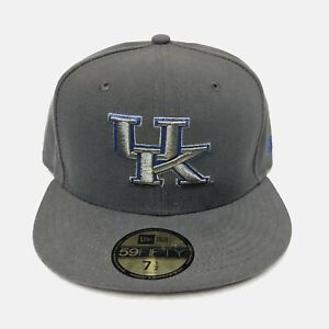 Kentucky Wildcats New Era 59FIFTY NCAA Fitted Hat Cap (Gray) Size 7 1/2