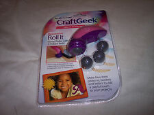 Purple Cows CraftGeek, Decorative Roll It, Stamp Roller with 4 Pattern Balls