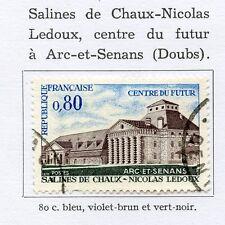 TIMBRE FRANCE OBLITERE N° 1651 SALINES CHAUX NICOLAS LEDOUX