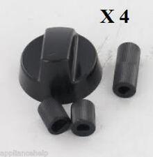 universel BRANDT Four Plaque de cuisson noir bouton contrôle & Adaptateur x 4