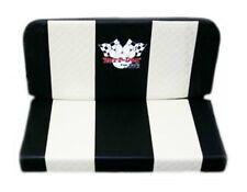 Double Vinyl Seat Creme Stripes Yerf Dog Logo Go Kart Off Road Karting Fun Cart