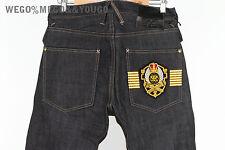 PROHIBIT X NRL NINE RULAZ LINE Raw selvedge Japan Denim Jeans Crest size 32 $294