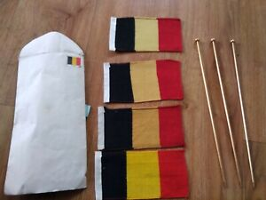 Vintage Belgium Flag X 3