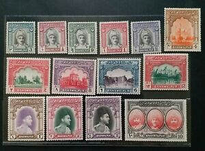 BAHAWALPUR 1948 3p to 10R SG 19 - 32 Sc 2 - 15 pictorial set 14 MLH/MH