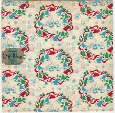 1950s Christmas Decorated Wrapping Paper 'Bells' -2 Sheets with Original Tag