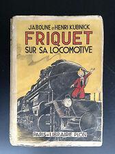 RARE pastiche Tintin 1936 Friquet sur la locomotive Erik Jaboune Kubnick