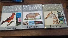 La vie des animaux 3 tomes sur 3 Larousse
