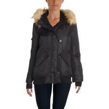 Aqua Womens Dani Winter Down Coat Bomber Jacket Outerwear BHFO 7196