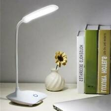 USB Rechargeable LED Desk Table Touch Lamp Adjustable intensity Reading Light