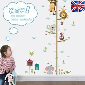 Height Chart Measurement Wall Sticker Decals for Kids Bedroom Playroom Animals