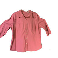 Women's Covington (B) Blouse Size 22 Dusty Rose 3/4 Sleeve business casual top