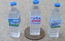 1:12 Scale 3 Mixed Square Bottles Of Water Tumdee Dolls House Drink Accessory