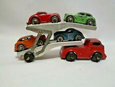 Vintage 1950s Barclay Double Hauler Carrier Truck with 4 Cars