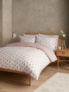 John Lewis & Partners Mirielle Organic Cotton Super King Duvet Cover Set, Pink