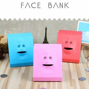 Money Eating Face Box Cute Facebank Piggy Coins Bank Funny Money Coin Box GN