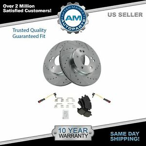 Front Ceramic Brake Pad & Performance Rotor Kit for Mercedes Benz C230 C240