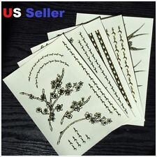 5pcs Waterproof Temporary Sexy Tattoo Stickers Skin Body Art In Retail Pack T-1