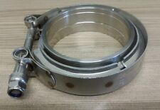"""3.0 inch 76mm V-band Vband Clamp + Collars, exhaust joiner stainless steel. 3"""""""