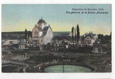 Exposition de Bruxelles 1910 Vue Generale Section Allemande Postcard Us086