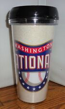 WASHINGTON NATIONALS TRAVEL MUG. 16 oz  TUMBLER MUG. AMERICAN BASEBALL.