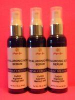 3*2oz HYALURONIC ACID Serum Anti-Aging Wrinkles Plumps Matrixyl CoQ10 Argireline