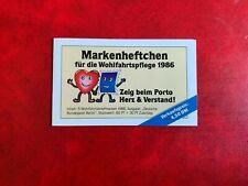 GERMANY BERLIN 1986 MNH BOOKLET GLASSWARE TUMBLER