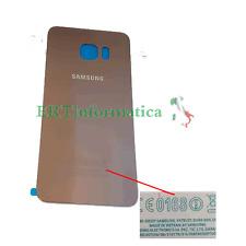 BATTERY COVER COPRI BATTERIA SAMSUNG GALAXY S6 EDGE PLUS G928 ORO GOLD + SCRITTE
