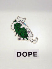 DOPE+ RIPNDIPCLOTHING VINYL STICKER - STREET ART - PEGATINA - 2 STICKERS LOT