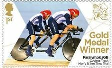 UK ParalympicsGB Gold Medal Winner Single Stamp - Neil Fachie MNH 2012