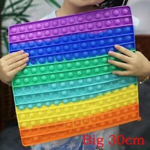 30CM Groß Popits Fidget Toys Push Pop Bubble Sensory ADHS Stressabbau Spielzeugs