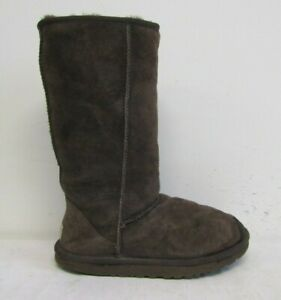 UGG AUSTRALIA WOMENS CALF LENGTH BOOTS SIZE UK 4.5 BROWN SUEDE