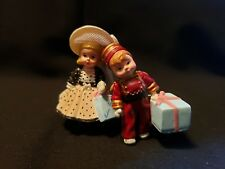 Park Avenue Wendy & Alex the Bellhop Hallmark Merry Miniatures 2 pc 1999 ~ Nib